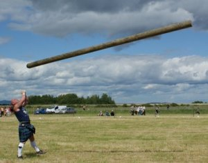 June Photograph Tossing The Caber Newburgh Games Scotland